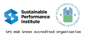 Sustainable Performance Institute and HUD Green Accredited Logo